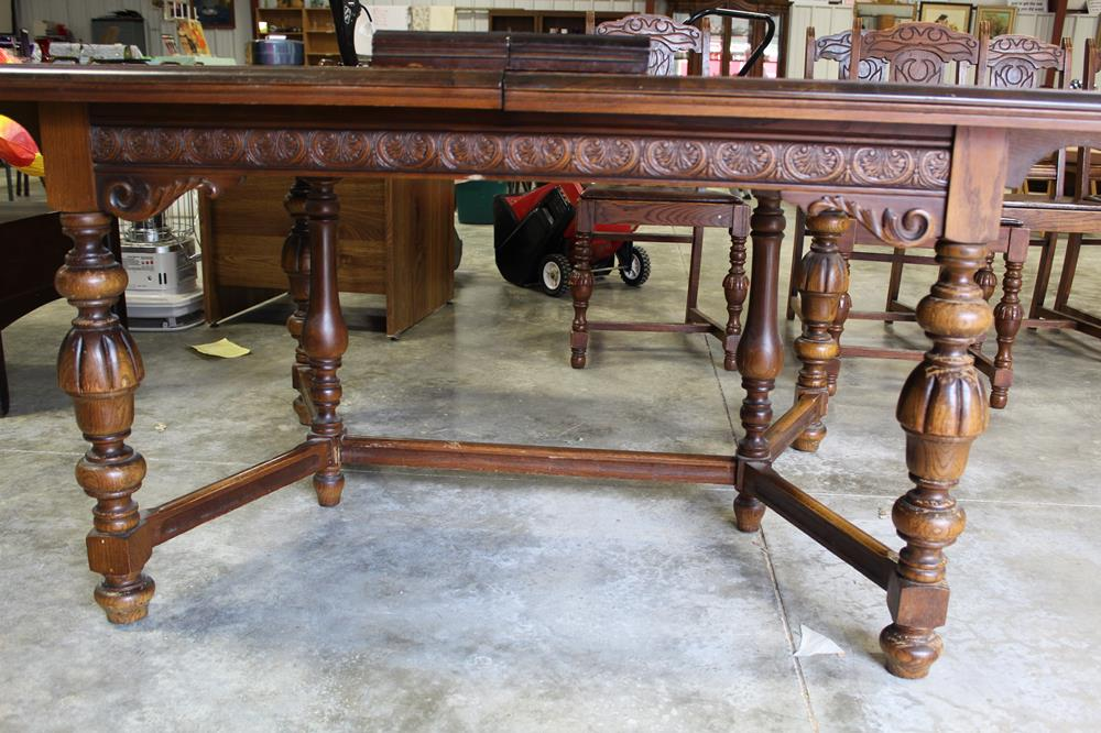 SOLD! Antique 50+ Year Old Montgomery Ward Dining Room Table ...
