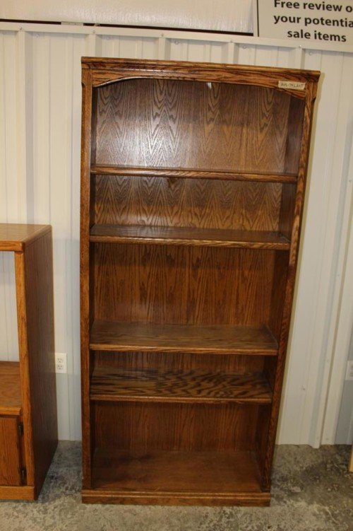 Solid Wood 5 Adjustable Shelf Bookcase from Value Auction Barn in Columiba MO Furniture Consignment Antiques (1)