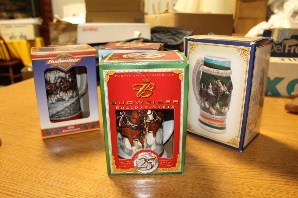 MANY Collectible Budweiser Steins: Olympics, Holiday
