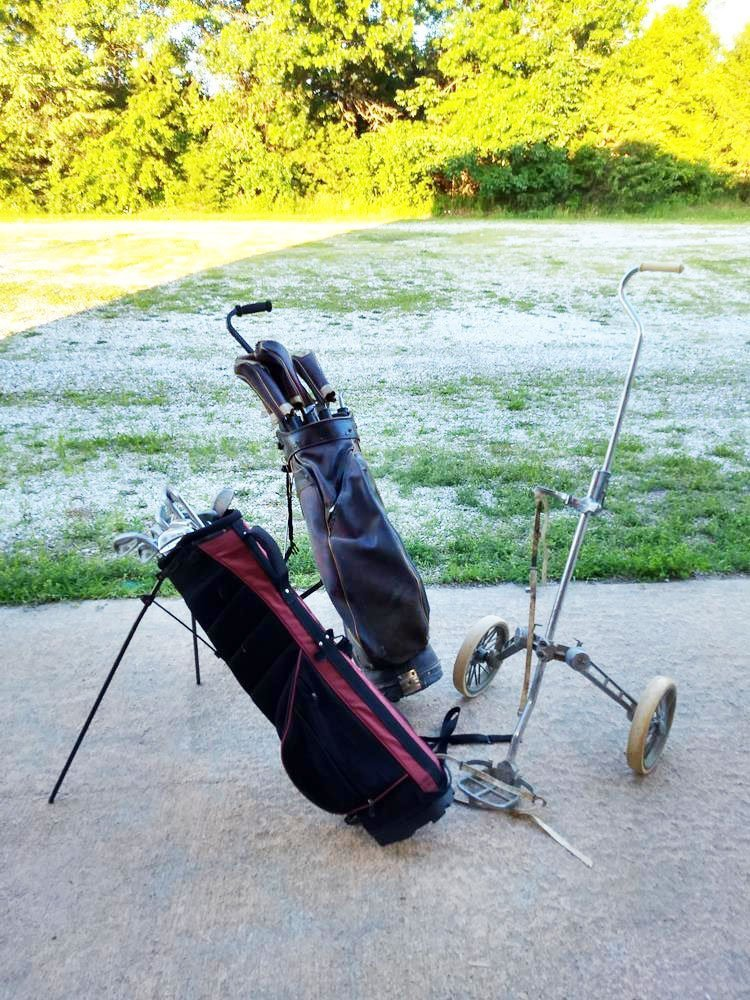 2 Golf Bags And Pull Carts Value Auction Barn