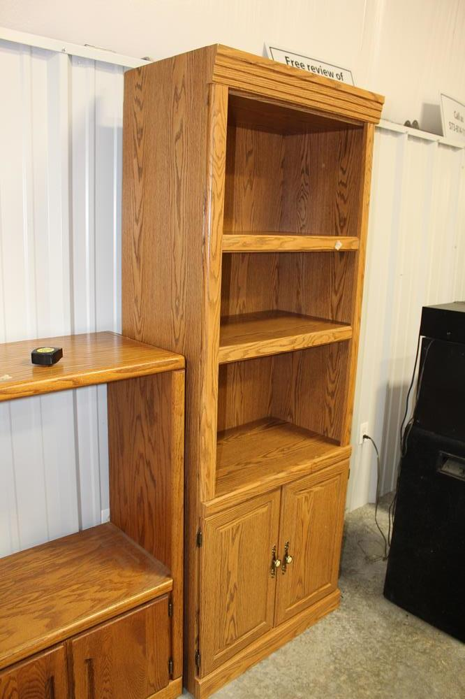 Three Shelves And Double Doors