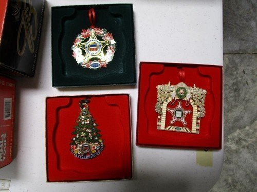 Three United States Secret Service Christmas Ornaments 2006 2009 2010 at Value Auction Barn in Central Missouri Collectibles Valuables